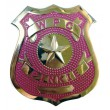 Значок Police Badge pink